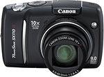 Canon PowerShot SX110 IS digital camera. Courtesy of Canon, with modifications by Zig Weidelich.