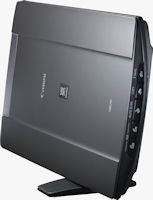 The 4,800 dpi CanoScan LiDE 210 scanner can be side-mounted to save space. Photo provided by Canon USA Inc.