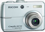 Ricoh's Caplio RR730 digital camera. Courtesy of Ricoh, with modifications by Michael R. Tomkins.