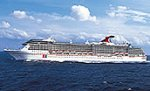 Carnival's Legend cruise liner. Courtesy of Carnival Cruise Lines, with modifications by Michael R. Tomkins.