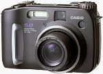 Casio's QV-5700 digital camera. Courtesy of Casio, with modifications by Michael R. Tomkins.