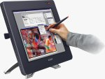 Wacom's Cintiq 18SX interactive pen display. Courtesy of Wacom, with modifications by Michael R. Tomkins.