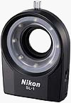 Nikon's Cool-Light SL-1 macro ring light. Courtesy of Nikon, with modifications by Michael R. Tomkins.