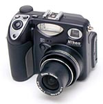 Nikon's Coolpix 5000 digital camera. Copyright (c) 2001, The Imaging Resource. All rights reserved.
