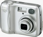 Nikon's Coolpix 4100 digital camera. Courtesy of Nikon, with modifications by Michael R. Tomkins.