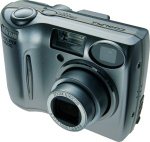 Nikon's Coolpix 4600 digital camera. Courtesy of Nikon, with modifications by Michael R. Tomkins.