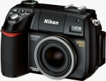 Nikon's Coolpix 8400 digital camera. Courtesy of Nikon, with modifications by Michael R. Tomkins.