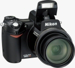 Nikon's Coolpix 8800 digital camera. Courtesy of Nikon, with modifications by Michael R. Tomkins.