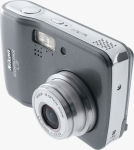 Nikon's Coolpix L2 digital camera. Courtesy of Nikon, with modifications by Michael R. Tomkins.