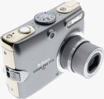 Nikon's Coolpix P3 digital camera. Courtesy of Nikon, with modifications by Michael R. Tomkins.