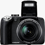 Nikon's Coolpix P80 digital camera. Courtesy of Nikon, with modifications by Michael R. Tomkins.