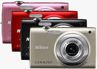 Nikon's Coolpix S2500 digital camera. Image provided by Nikon UK Ltd.