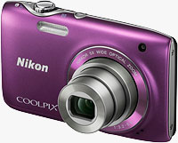 Nikon's Coolpix S3100 digital camera. Photo provided by Nikon Inc.