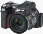 Nikon's Coolpix 8700 digital camera. Courtesy of Nikon, with modifications by Michael R. Tomkins.