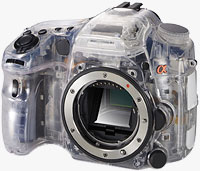 Sony's SLT camera concept. Photo provided by Sony Corp.