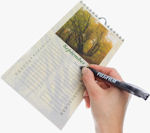Fujifilm's Crystal Archive Writable photo paper. Courtesy of Fujifilm, with modifications by Michael R. Tomkins.