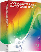 Adobe's CS3 Master Collection product packaging. Photo provided by Adobe Systems Inc.