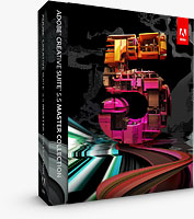 Product packaging for Adobe Creative Suite 5.5 Master Collection. Rendering provided by Adobe Systems Inc.