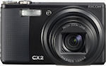 Ricoh's CX2 digital camera. Photo provided by Ricoh Co. Ltd.