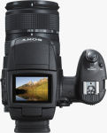 Sony's Cyber-shot DSC-R1 digital camera. Courtesy of Sony, with modifications by Michael R. Tomkins.