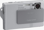 Sony's Cyber-shot DSC-T7 digital camera. Courtesy of Sony, with modifications by Michael R. Tomkins.