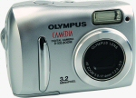 Olympus' Camedia D-535Z digital camera. Courtesy of Olympus, with modifications by Michael R. Tomkins.