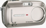 Olympus' D-590 Zoom digital camera. Courtesy of Olympus, with modifications by Michael R. Tomkins.