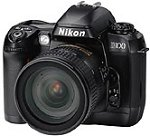 Nikon's D100 digital camera. Courtesy of Nikon Inc., with modifications by Michael R. Tomkins.