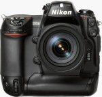 Nikon's D2H digital camera. Courtesy of Nikon, with modifications by Michael R. Tomkins.