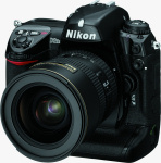 Nikon's D2Hs digital camera. Courtesy of Nikon, with modifications by Michael R. Tomkins.