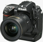 Nikon's D2X digital camera. Courtesy of Nikon, with modifications by Michael R. Tomkins.