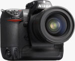 Nikon's D2Xs digital SLR. Courtesy of Nikon, with modifications by Michael R. Tomkins.