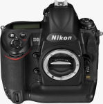 Nikon's D3 digital SLR. Courtesy of Nikon, with modifications by Michael R. Tomkins.