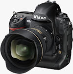 Nikon's D3S digital SLR. Photo provided by Nikon Inc. Click for our Nikon D3S preview!