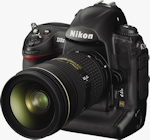 Nikon's D3X digital SLR. Courtesy of Nikon, with modifications by Michael R. Tomkins.