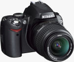 Nikon's D40X digital SLR. Courtesy of Nikon, with modifications by Michael R. Tomkins.