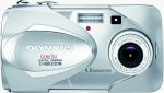 Olympus' Camedia D-580 Zoom digital camera. Courtesy of Olympus, with modifications by Michael R. Tomkins.