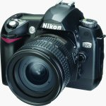 Nikon's D70 digital camera. Courtesy of Nikon, with modifications by Michael R. Tomkins.