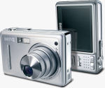 BenQ's DC-E600 digital camera. Courtesy of BenQ, with modifications by Michael R. Tomkins.