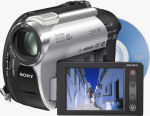 Sony's DCR-DVD108 camcorder. Courtesy of Sony, with modifications by Michael R. Tomkins.