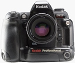 Kodak's DCS Pro 14n digital SLR. Courtesy of Eastman Kodak Co., with modifications by Michael R. Tomkins.
