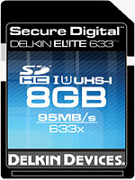 The Delkin Elite 633X UHS-I SDHC card. Photo provided by Delkin Devices Inc.