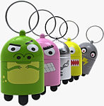 Quirky's DigiDudes keychain tripod lineup. Photo provided by Quirky.