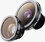 Two of Digital King's lenses for the iPhone 4. Photo provided by Digital Interactive Systems Corp.