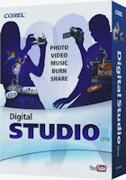 Corel's Digital Studio 2010 product packaging. Photo provided by Corel Corp.