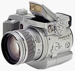 Minolta's DiMAGE 5 digital camera. Copyright © 2001, The Imaging Resource. All rights reserved.