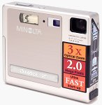 Minolta's DiMAGE X digital camera. Copyright © 2002, The Imaging Resource.  All rights reserved.