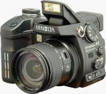 Minolta's DiMAGE A1 digital camera. Courtesy of Minolta, with modifications by Michael R. Tomkins.