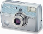 Minolta's DiMAGE E323 digital camera. Courtesy of Minolta, with modifications by Michael R. Tomkins.