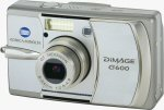Konica Minolta's DiMAGE G600 digital camera. Courtesy of Konica Minolta, with modifications by Michael R. Tomkins.
